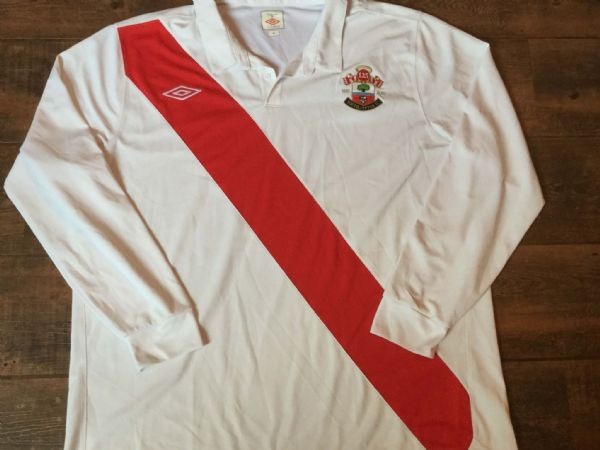 2010 2011 Southampton L/s 125 Years Anniversary Home Football Shirt Adults 3XL